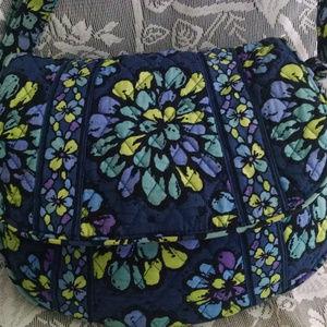 Vera Bradley Indigo Pop Retured Handbag Reversible